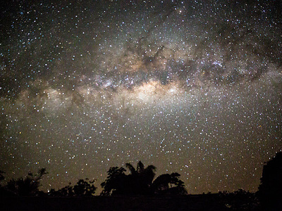 Milky Way over the Amazon