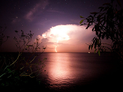 Lightening in Brazilian Amazon