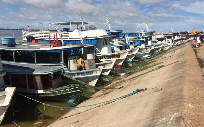 Boats Moored on the Orla Santarem