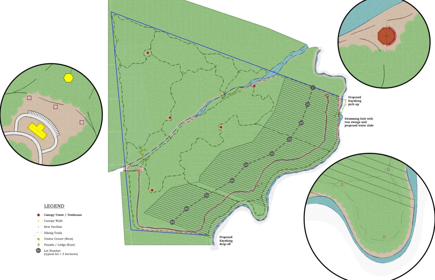 Brazil Rainforest Lots Map